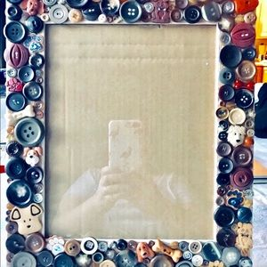 Other - 🐕Dog themed button art picture frame🐶